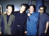 Musician Actor Chris Isaak with His Band