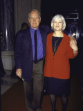Actor Paul Newman and Wife Joanne Woodward at George Magazine Awards