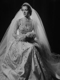 Franches Roche Posing in Gown for Her Wedding to Lord John Althorp