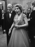 Lady Bernard Docker in Formal Dress at Fabulous Party Thrown by Her