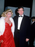Real Estate Developer Donald Trump and Wife Ivana