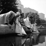 Artist Lyonel Feininger and Lux Feininger Sailing Boats June 1951 Central Park  New York