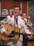 Webb Pierce Performing During Grand Ole Opry Broadcast