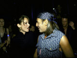 Model Kate Moss and Designer John Galliano at Galliano&#39;s Opening of Christian Dior Boutique