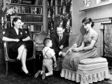 Rep Albert Gore at Home with Wife Pauline 3-Yr-Old Son Al Jr and 13-Yr-Old Daughter Nancy