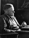 Physics Prof at Gottingen University  Carl Freidrich Von Weizsacker  Sitting at His Desk