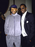 Recording Mogul Russell Simmons and Rap Artist Sean &quot;Puffy&quot; Combs