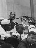 Rev Martin Luther King Jr Addressing Crowd During a Civil Rights Rally