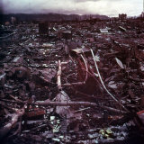 Aftermath of Atomic Bomb Dropped on the City