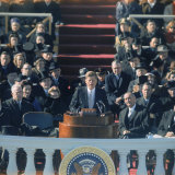 Pres John F Kennedy Delivering His Inaugural Speech