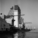 Construction of the United Nations Building Along the East River