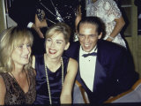 Actress Sharon Stone with Sister Kelly and Brother Michael