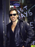 Musician Bruce Springsteen  Wearing Sunglasses