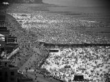 Crowds Filling the Beaches of Coney Island on the Fourth of July