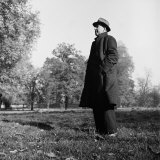 Scholar CS Lewis Standing in Open Field; Nr Magdalen College  Oxford University