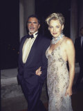 Newspaper Reporter Phil Bronstein and Wife  Actress Sharon Stone  at Amfar Benefit