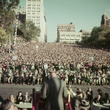 Dwight Eisenhower Speaking to Crowd During Presidential Campaign