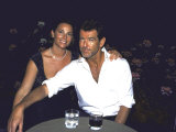Actor Pierce Brosnan and Girlfriend Keely Shaye Smith at Talk Magazine Launch Party
