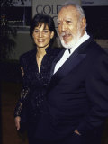 Actor Anthony Quinn and Wife Kathy at Golden Globe Awards