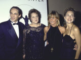 Actress Sharon Stone with Sister Kelly  Brother Michael and Mother