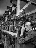 Watchmaker Rudolf Fehrenbach Listening to Heart of Cuckoo Clock in Hubert Herr Factory