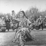 Uighur Dancer Performing to Music