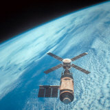 Orbiting Space Laboratory Skylab Aloft Above Earth