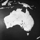 Orographical Map of Australia Papier Photo
