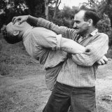 An Instructor Demonstrating a Combat Method