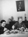 Generalissimo Chiang Kai-Shek Eating Lunch with His Wife