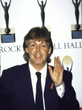 Musician Paul Mccartney at the Rock and Roll Hall of Fame