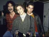 Musician Frank Zappa with Children Moon Unit and Dweezil