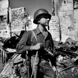 Life Photographer War Correspondent Carl Mydans Armed with Camera and Carbine