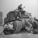 Women Mechanics Working on M3 Tank at Alberdeen Proving Ground