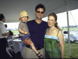 Actress Julianne Moore with Husband  Director Bart Freundlich  Holding their Son