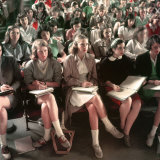 Female Students  Including Janet Trowbridge in Class at Smith College