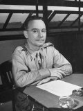 US Army Air Force General Lewis Brereton in His Hq Office Shortly before Outbreak of War with Japan