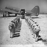 US Armed Forces C46 Cargo Plane Loading Troops and Equipment