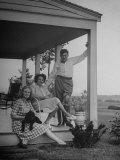 Elliott V Bells Standing on Porch with His Family