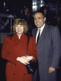 Mayoral Candidate of New York City Rudolph Giuliani and Wife  Actress Donna Hanover