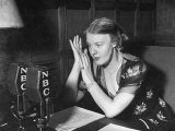 Dorothy Thompson Working on a Radio Broadcast