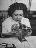 Woman Working in Watch Factory