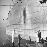 Ship Builder Henry J Kaiser Standing in His Shipyard