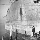 Ship Builder Henry J Kaiser Standing in His Shipyard