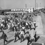 Workers Leaving the Sun Shipbuilding and Drydock Co Shipyards