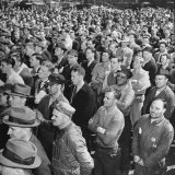 Crowd of Steel Workers Listening as the Plant Is Presented the Us Navy E Pennant