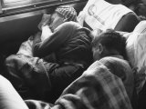 People Sleeping While Riding Aboard the El Capitan