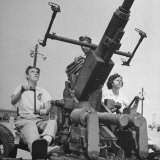 Women Sighting a Bofor Anti-Aircraft Gun