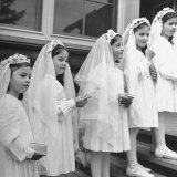Dionne Quintuplets Posing in their Confirmation Outfits for their First Holy Communion