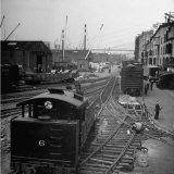 Freight Cars in the New York Dock Co Yards on Brooklyn NY Waterfront